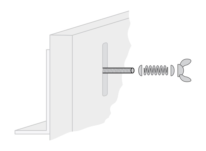 Diagram for spring loaded bolt